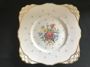 TUSCAN Dinner / serving plate - Pink/floral
